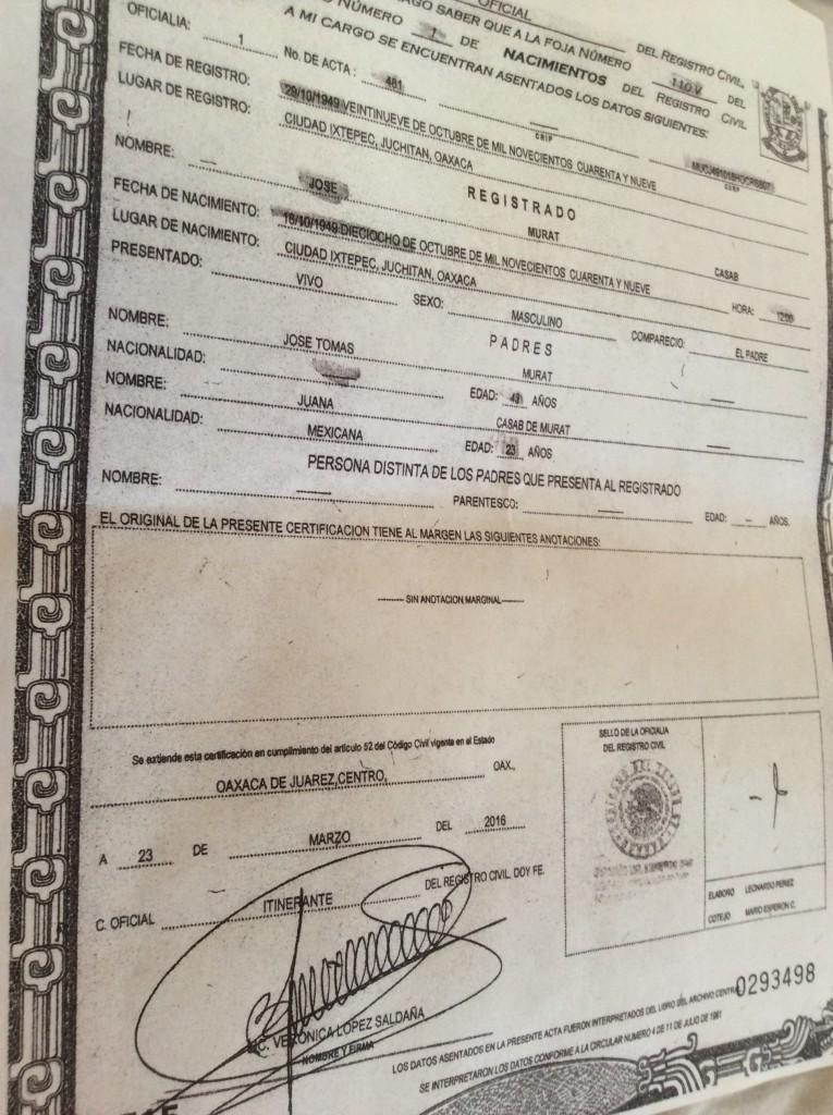 Contemporáneo Es Mi Tipo De Sangre En Mi Certificado De Nacimiento ...