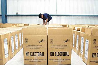 Listo el material electoral para elección de San Dionisio del Mar