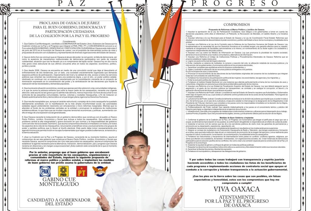 El abrevadero de Salomón / Oaxaca: Modelo de gobierno fallido.
