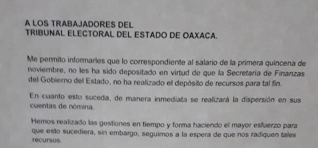 CRÓNICA EXPRÉS: TEEO contra Secretaría de Finanzas