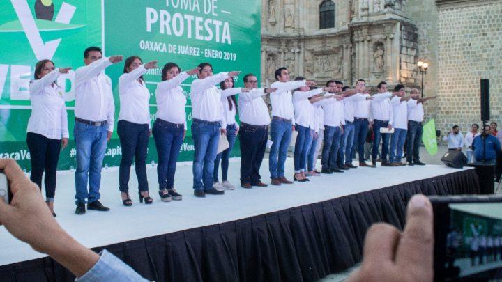 Rinden protesta Comités y Delegado del PVEM de Oaxaca de Juárez
