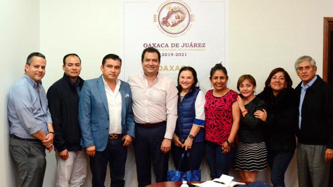 Reitera Oswaldo García Jarquín compromiso de potenciar desarrollo económico de la capital oaxaqueña