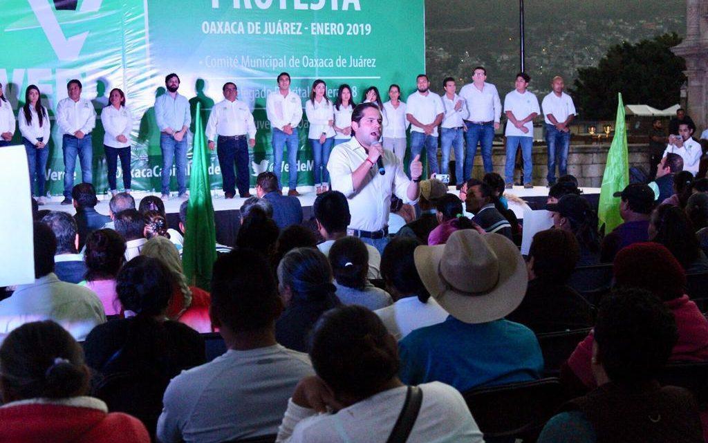 Llama Raúl Bolaños Cacho a la unidad en el Partido Verde en Oaxaca