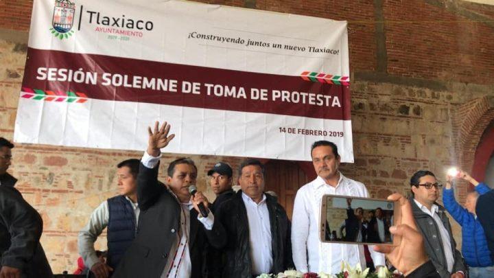 Y Gaudencio Ortiz ya es presidente municipal de Tlaxiaco, a pesar de la pugna morenista