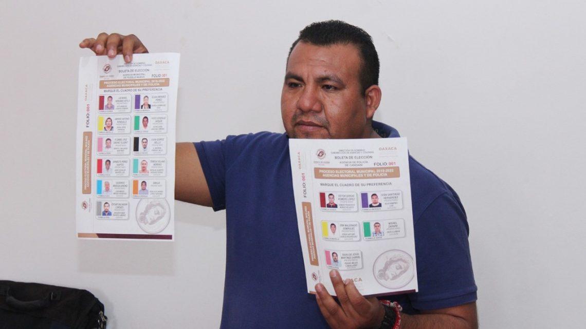 Aprueban formato de boleta para elección de agentes municipales y de policía