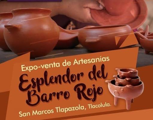 Expo venta de artesanías en barro rojo, en San Marcos Tlapazola
