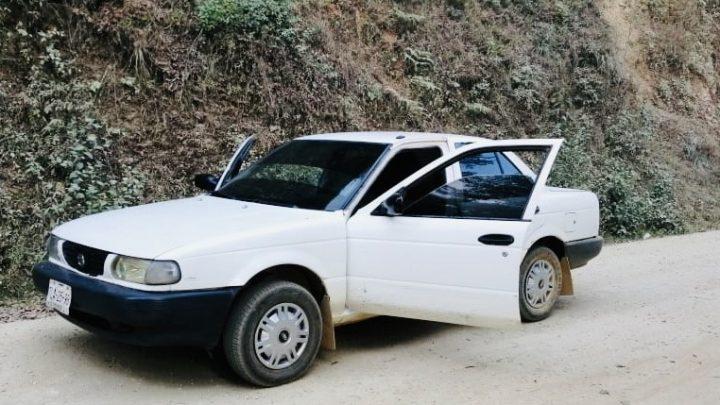 Recupera Policía Estatal un vehículo robado en la Sierra Norte