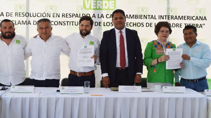 Respalda PVEM Oaxaca la Carta Ambiental Interamericana por los Derechos de la Madre Tierra