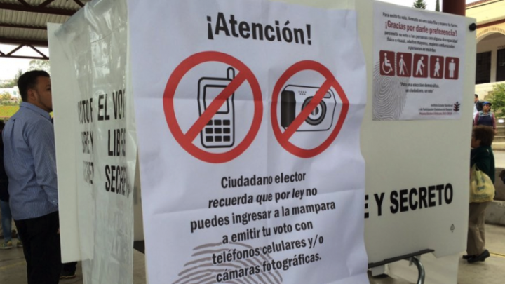 Presentan iniciativa para prohibir el uso de aparatos electrónicos al momento de votar