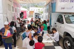 Tercer día de caravana DIF en las agencias de la capital oaxaqueña