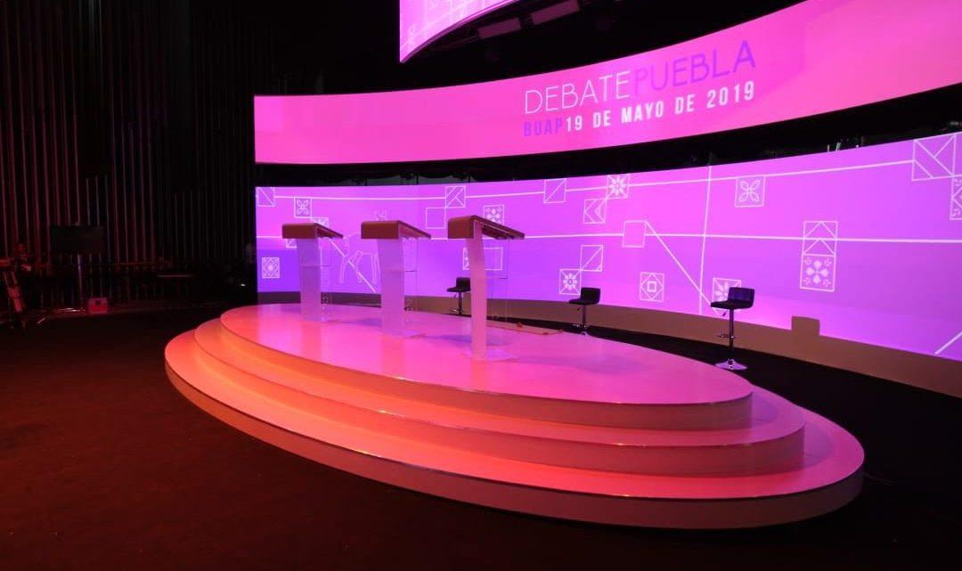 Todo listo para el debate entre candidatos a la gubernatura de Puebla