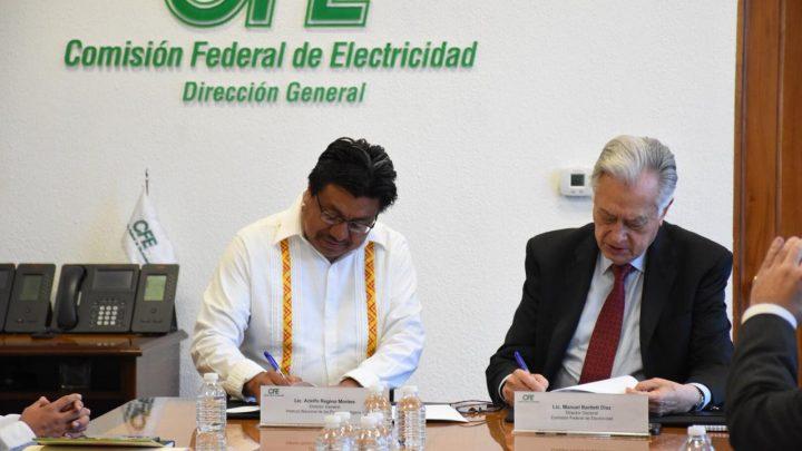 Firman el INPI y la CFE Convenio de Colaboración Específico para garantizar la electrificación en comunidades indígenas