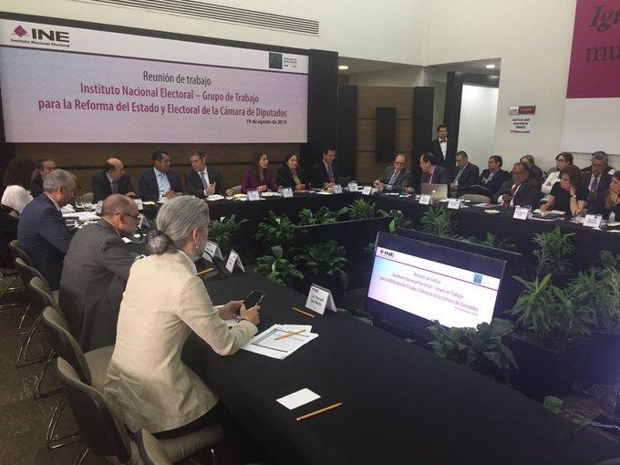 Sobre estos temas versó la reunión entre consejeros del INE y diputados respecto a una reforma electoral